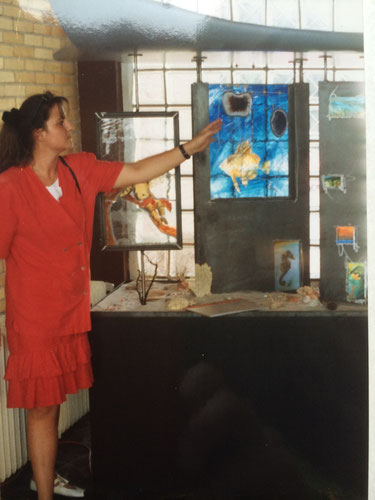 #gesellenstück #glasmalerei #glasfachschulehadamar #hadamar #waves #lecorbusier #meeresrauschen