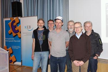v.l.n.r.: P. Langhammer, K. Schubert, M. Drexler, A. Greiner, B. Söhnlein, K. Eifler. Foto: Ina Willax