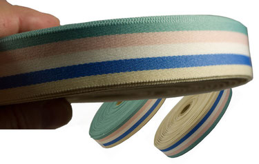 striped ribbon no. 12, pastel stripes, width 5 (2,5cm), as long, while stocks last