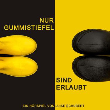 Autorin, Schauspielerin, Sprecherin Luise Schubert mit persönlichen Stil Gummistiefel // Leipzig