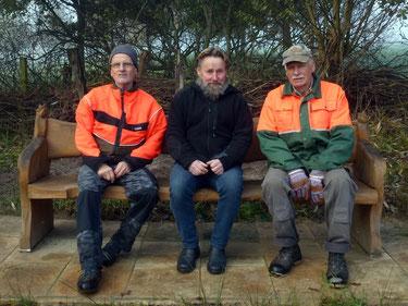 Gunther Bernau, Wolfgang Thiel und Gerold Wieting