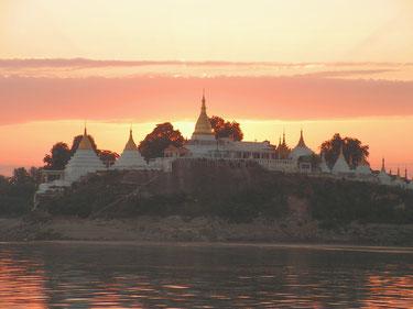 Auf dem Irrawaddy in Burma