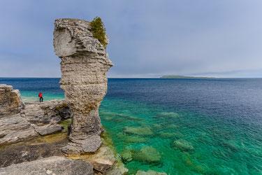 Flowerpot island im Lake Huron