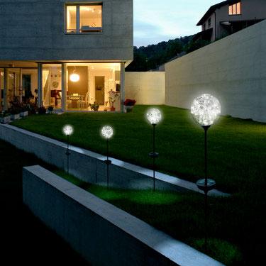 ©Nortene, OPHEA, globe solaire en verre transparent