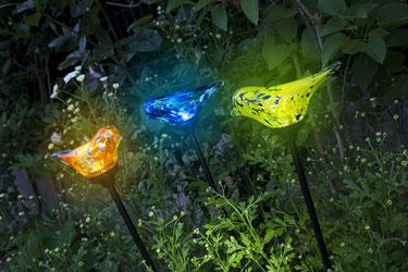 ©Nortene, torche solaire LAOSIA en bambou naturel
