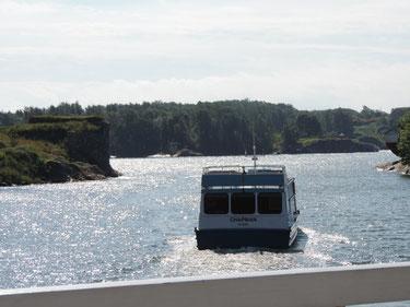 Mit dem Schiffbus auf zu den Inseln