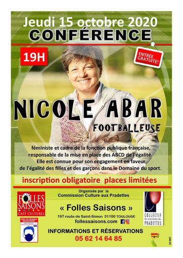 Conférence Nicole Abar - Folles saisons