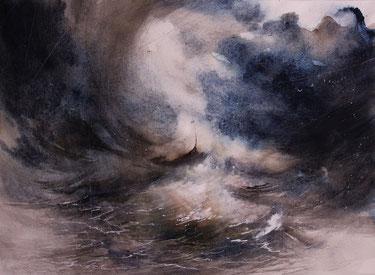 """""""Ulisse il Mito"""" acquerello su carta arches cm 38 x 52"""
