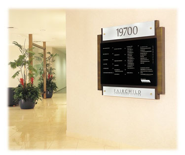 Directory Sign - Antique Brass - Illuminated