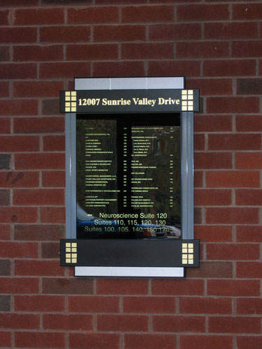 Directory Sign - ThinLIne - Illuminated