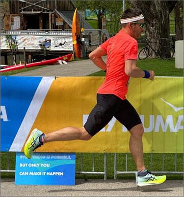 Beim Ottobrunner 6-Stundenlauf Anfang April 2017.