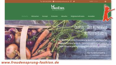 Ökoesel, der erste Münchner Mitgliederladen für bioglogische, fair gehandelte und möglichst regionale Produkte - unser Freudensprung der Woche!