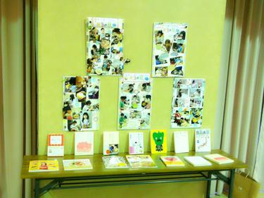 スタッフの子どもたちの弁当作りの写真パネル展示もしました♪