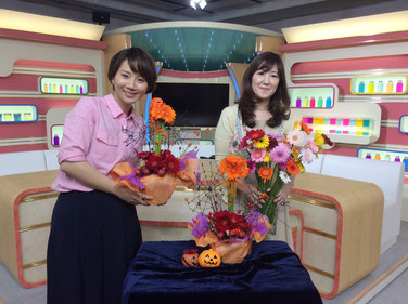 NHK ガーベラを使ったアレンジメント