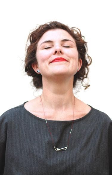 Hoffnung Halskette - 925/ Silber, Seide von Eva Suba
