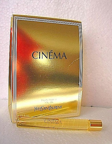 CINEMA - FLACON A BILLE PRESENTE DANS JOLI POCHETTE DOREE : EAU DE PARFUM 10 ML