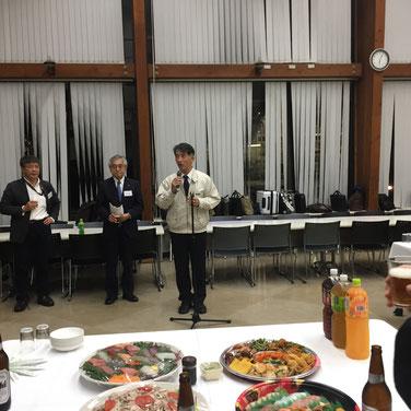 乾杯のご挨拶をいただいた九州大学の藤本先生