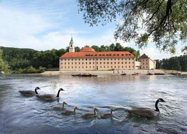 Zum weltbrühmten Kloster Weltenburg wandern oder mit dem Schiff fahren, Foto: Tourismusverband Ostbayern e.V./Fotograf: Stolz
