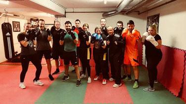 Marco Spath Boxen für Alle!  14 Pers.-Gruppe, Feb. 2019, M's-Gym Bern Ittigen MO-FR