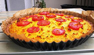 Tomaten - Kürbis - Quiche aus dem Ofen