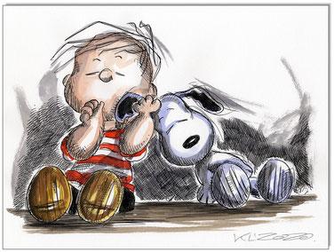 Linus & Snoopy sleeping