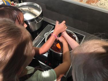 Kochen mit Kindern im LoftStadl