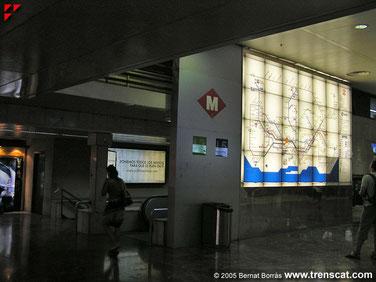 Planell de les línies de metro. PUNT DE TROBADA!
