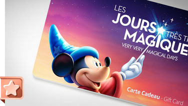 Carte Cadeau Disneyland Paris