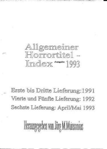 Allgemeiner Horrortitel-Index Seite 1
