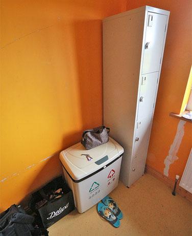 Abfall im Zimmer, gut gemeint,  bei Bioabfall braucht es aber auch Disziplin.