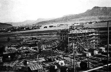 Bau des Kesselhauses , 1944