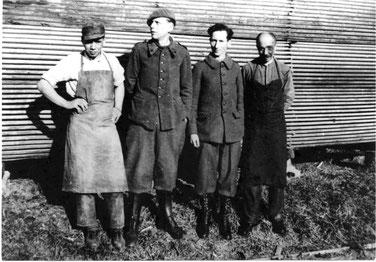 Französische Kriegsgefangene bei der Firma Beutter (Foto: Stadtarchiv Balingen)