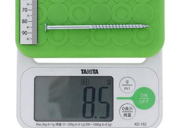 18Vインパクト対応コーススレッドの重量