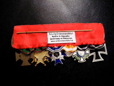 Replica of the medal bar of Captain Oswald Boelcke, back side