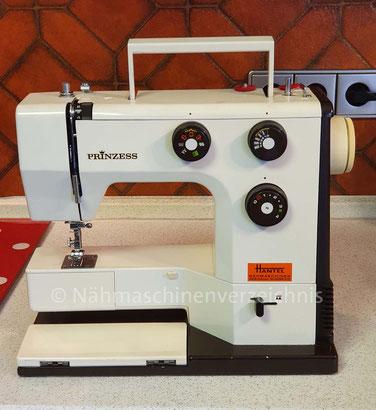 Prinzess 624, Freiarm, Automatik, Haushaltsnähmaschine, Hergestellt in den 70er Jahren verm. in Japan, Vertrieb: Hüpeden & Co., Hamburg (Bilder: A.  Leppmann)