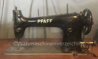 Pfaff 34-6, Geradestich-Flachbett-Gewerbenähmaschine, Hersteller: G. M. Pfaff AG, Kaiserslautern, Baujahr 1941 (Bilder: C. Friedemann)