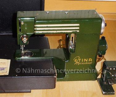 Messerschmitt Etina, Freiarm-Geradestichnähmaschine, 1949 gebaut von der Messerschmitt GmbH in Kematen bei Insbruck, Österreich (Bilder P. W. Wallner)