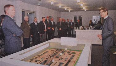 Festakt anläßlich des zehnjährigen Stiftungsjubiläum in der Gedenkstätte Lager Sandbostel. Foto: A. Szabo, 17.12.2014