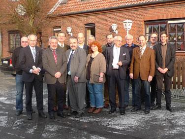 Kuratorium, Stiftungsvorstand und Gäste beim fünfjährigen Stiftungsjubiläum am 17. Dezember 2009