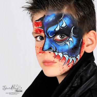 Kinderschminken_Vorlagen; Schminkfarben_kaufen_Schweiz; Kinderschminken_Kurse; einfach; Monster