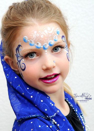 Kinderschminken_Vorlagen; Schminkfarben_kaufen_Schweiz; Kinderschminken_Kurse; einfach; Meerjungfrau