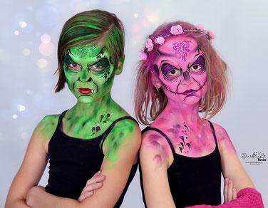 Kinderschminken_Vorlagen; Schminkfarben_kaufen_Schweiz; Kinderschminken_Kurse; einfach; Zombie