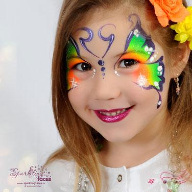 Kinderschminken_Vorlagen; Schminkfarben_kaufen_Schweiz; Kinderschminken_Kurse; einfach; Schmetterling