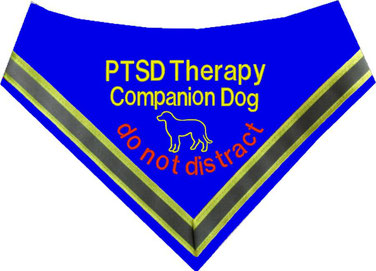 PTBS,PTSD, Hundehalstuch,Halstuch, Assistenzhund, Posttraumatische Belastungsstörung