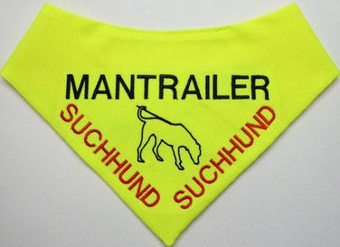 Mantrailer, Halstuch, textilfashion_de, Suchhund, Rettungshund
