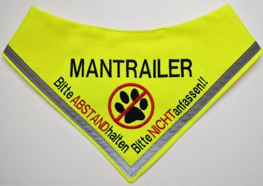 Mantrailer, Halstuch ,Hundehalstuch, Suchhund, Fährtenhund