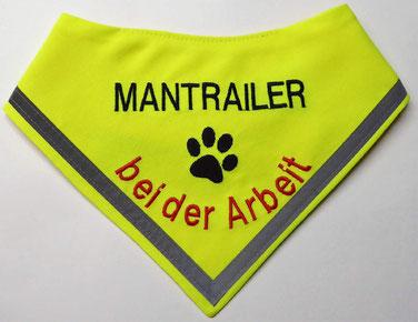 Mantrailer Hundehalstuch, Halstuch, Suchhund, Fährtenhhund