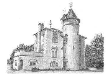 L'Atelier de Capucine Minot - Dessin personnalisé sur commande - Idée cadeau original : Dessins de Maison de famille , Maisons de vacances , Domaine , Château, Eglise