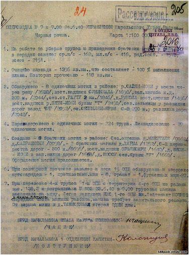 """Оперсводка Управления КАУР""""а  от 24.06.40 г."""