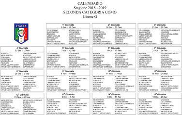 Calendario Torneo A 7 Squadre.Prima Squadra Gs Don Bosco Cesano Maderno